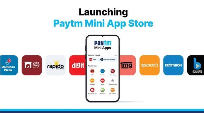 Paytm brought mini app